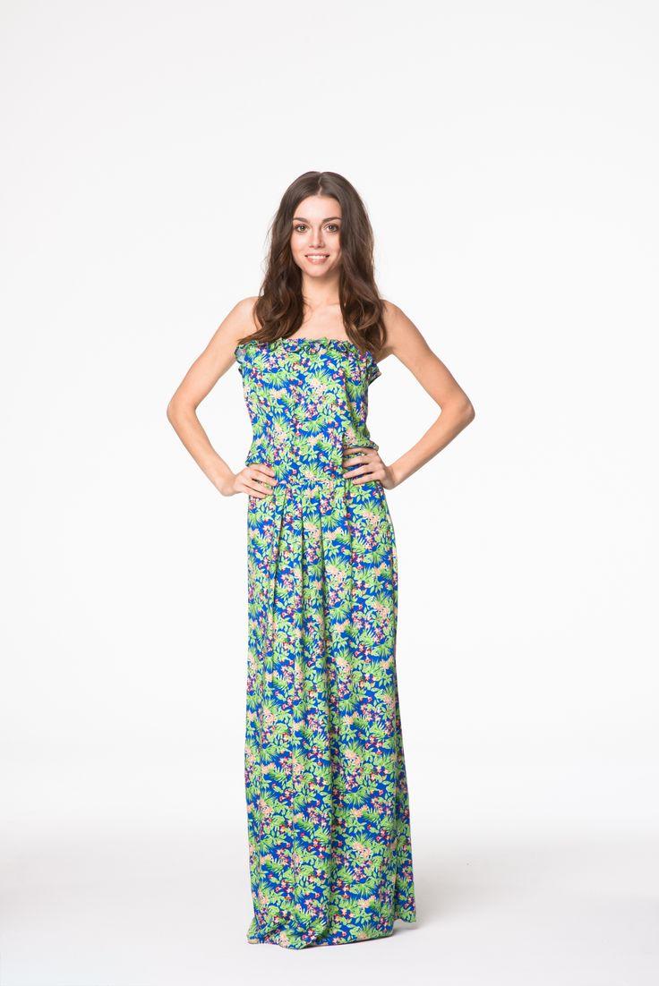 Prześliczna wiosenna sukienka maxi w kwiaty