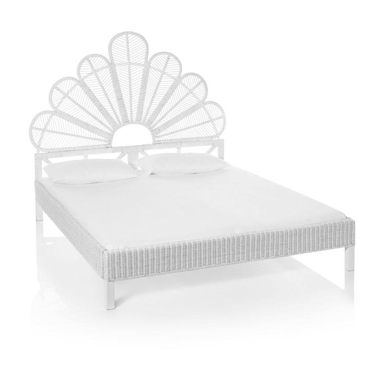 die besten 25 rattan kopfteil ideen auf pinterest vintage betten rattan und mediterrane. Black Bedroom Furniture Sets. Home Design Ideas