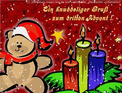 lustiges Bild 'Zum dritten Advent.gif' von Floh. Eine von 61029 Dateien in der Kategorie 'Lustiges' auf FUNPOT.