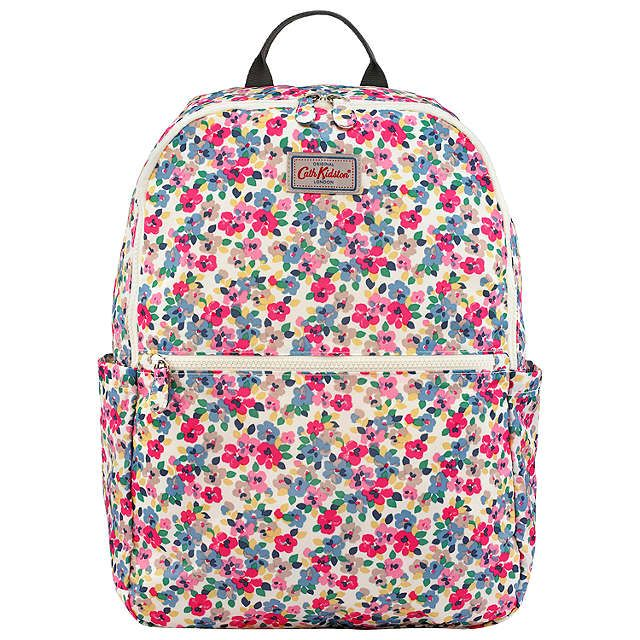 BuyCath Kidston Painted Pansies Fold Backpack, Pink Online at johnlewis.com