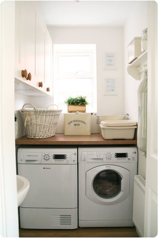 good use of a small laundry room