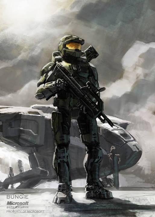 Halo Concept Art Master Chief