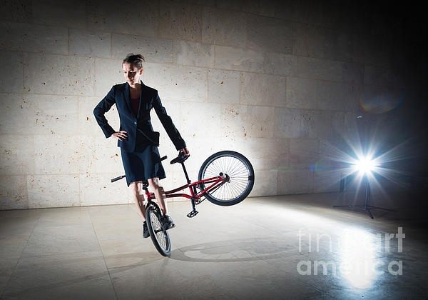 BMX Flatland rider Monika Hinz elegant and cool Photograph - Available as poster, metal print, acrylic print or canvas print here: http://matthias-hauser.artistwebsites.com/featured/bmx-flatland-rider-monika-hinz-elegant-and-cool-matthias-hauser.html - Prices starting at $32 for an art print. Watermark will not appear on final product. 30 days money back guarantee.