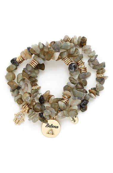 Sequin Stone Stretch Bracelets (Set of 3) available at #Nordstrom
