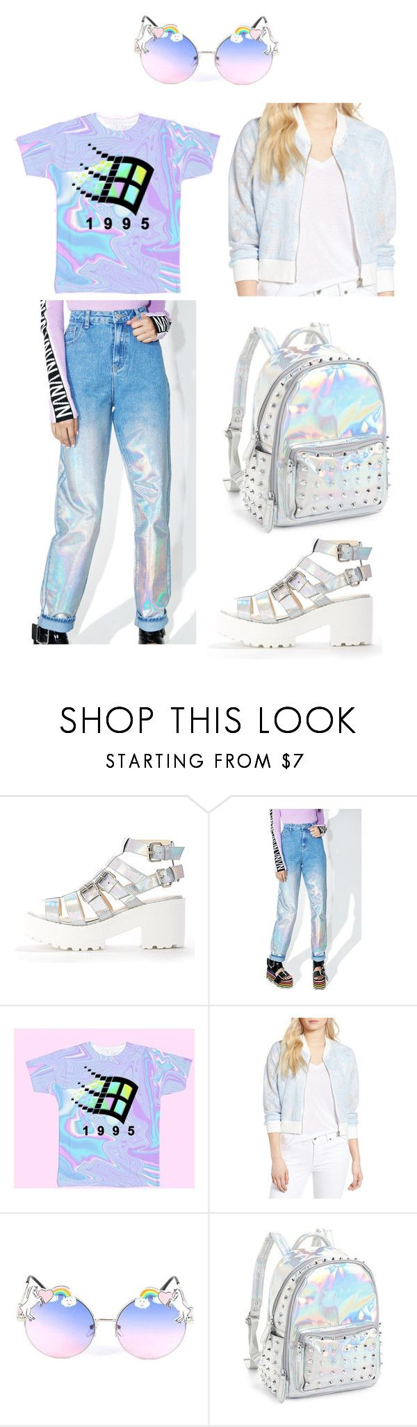 """""""Holo"""" by apricoto on Polyvore featuring Glamorous, cupcakes and cashmere and Bari Lynn"""
