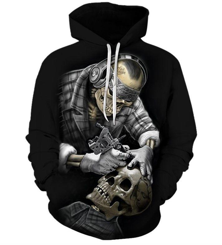 Hot Motorcycle Funny 3D Print Casual Sweatshirt Men Women Hoodies Pullover Tops