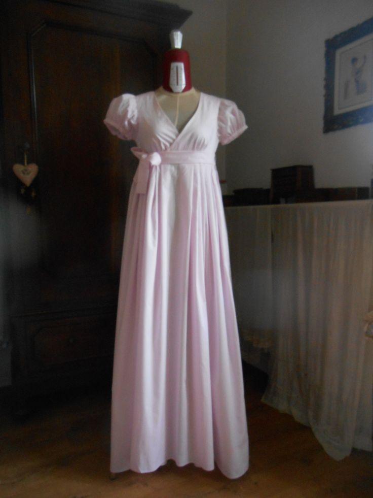abito da ballo in batista di cotone rosa