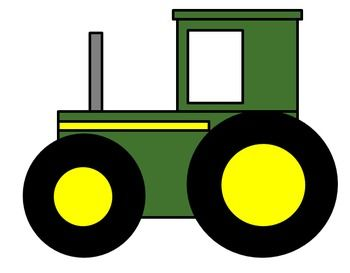 Parts of a Farm Tractor Cutting and Pasting Craft Activity. Great for preschoolers or elementary-aged kids!