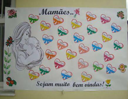 Resultado de imagem para mural dia das mães