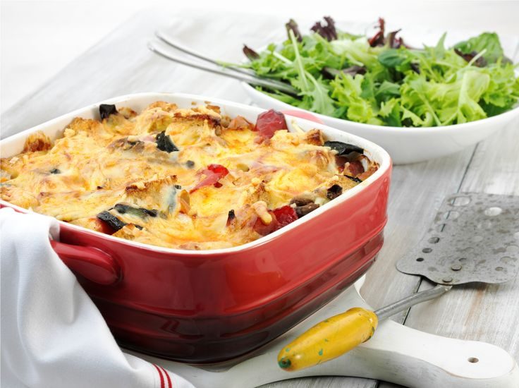Roast Turkey and Grilled Vegetable Bake: Recipe courtesy of AECL.