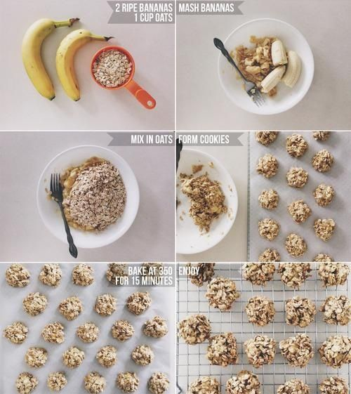 Healthy banana and oat cookies! My one yr old daughter loved them. It's bland but they do have a good taste to them. Could add some sugar to it or even cinnamon. Very easy to do
