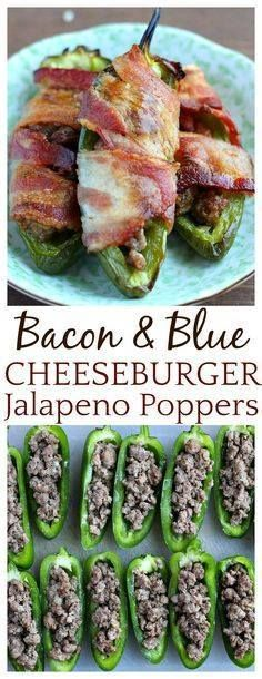 Bacon & Blue Cheeseb Bacon & Blue Cheeseburger Jalapeno...  Bacon & Blue Cheeseb Bacon & Blue Cheeseburger Jalapeno Poppers are a fun delicious variation of this popular appetizer recipe! This is a fairly quick and easy recipe with yummy ground beef and blue cheese filled jalapeno peppers wrapped in bacon and cooked until the peppers are soft and the bacon is crispy - simply delicious! Recipe : http://ift.tt/1hGiZgA And @ItsNutella  http://ift.tt/2v8iUYW