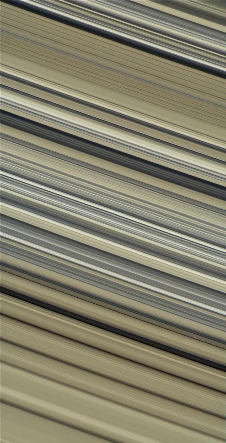 Saturn's rings – acquired by Cassini spacecraft on July 6, 2017 – from a distance of 47,000 miles (76,000 km). Image scale about 2 miles (3 km) per pixel. Phase angle, or sun-ring-spacecraft angle, is 90 degrees. Via NASA PhotoJournal.