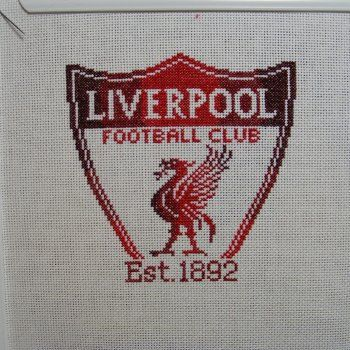 Liverpool Football Club cross stitch by hardcorestitchcorps, $3.00