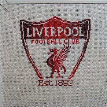 Liverpool Football Club cross stitch by hardcorestitchcorps, $3.00