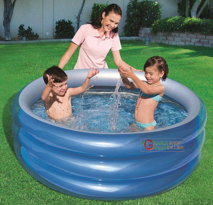 BESTWAY 51041B PISCINA TONDA BLU PER BAMBINI CM. 150x53h. http://www.decariashop.it/piscine-per-bambini/20770-bestway-51041b-piscina-tonda-blu-per-bambini-cm-150x53h.html