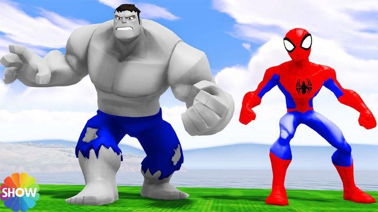 Kids games The AMAZING SPIDERMAN meets ANGRY HULK + Popular Kids Songs &...