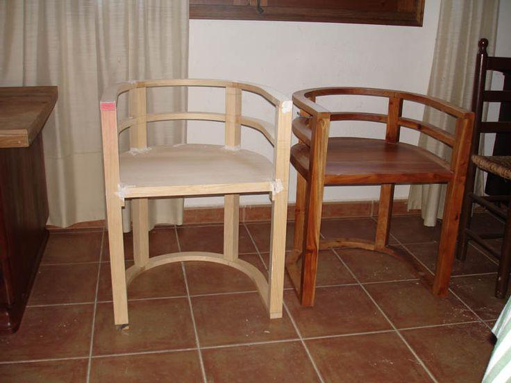 Silla diseñada y realizada en exclusiva para el restaurante De L'Est de Girona.