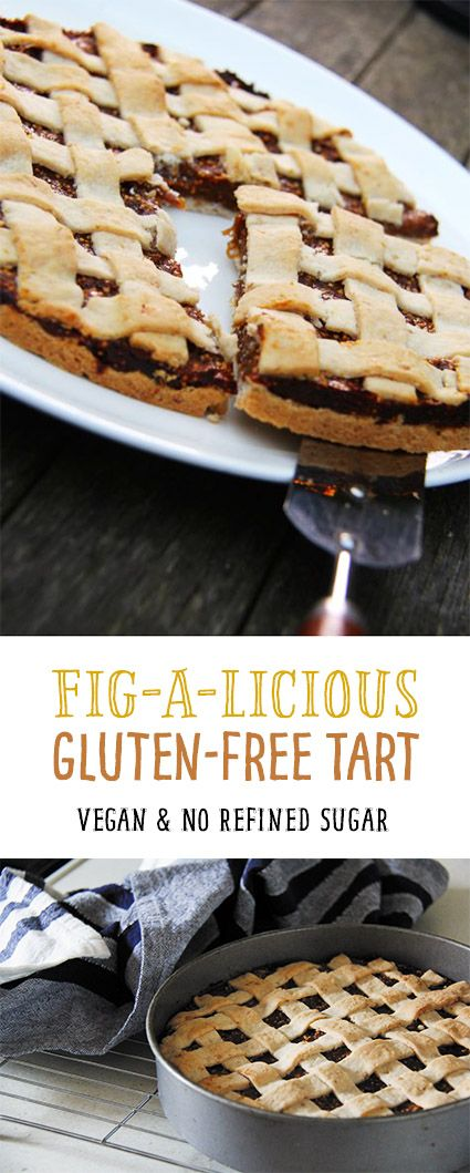 Fig-A-Licious Tart! A gluten-free fig tart with a melt in the mouth pastry. Naturally sweetened too.