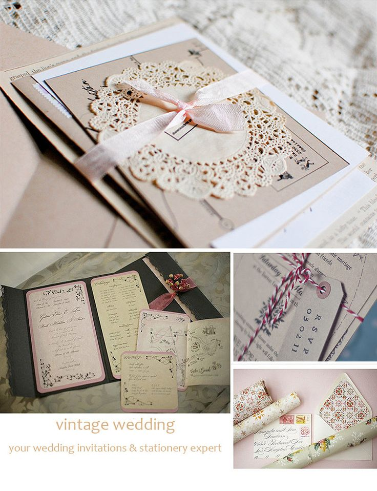 43 best Vintage Wedding Invitations images on Pinterest | Invitation ...