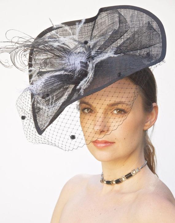 Kentucky Derby Hat Women's Black & White Wedding by AwardDesign, $110.00/ beautiful.