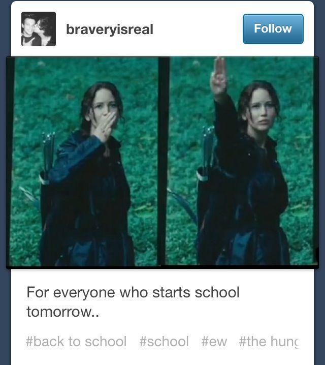 Lol haha funny / Hunger Games Humor / Katniss / School ):