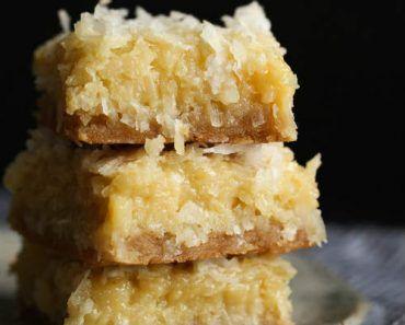 Butter Coconut Bar Recipe