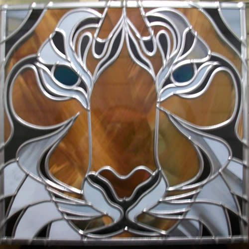 674 best cool stained glass projects images on pinterest stained commissiond glass tiger door panelg 500500 pixels planetlyrics Images