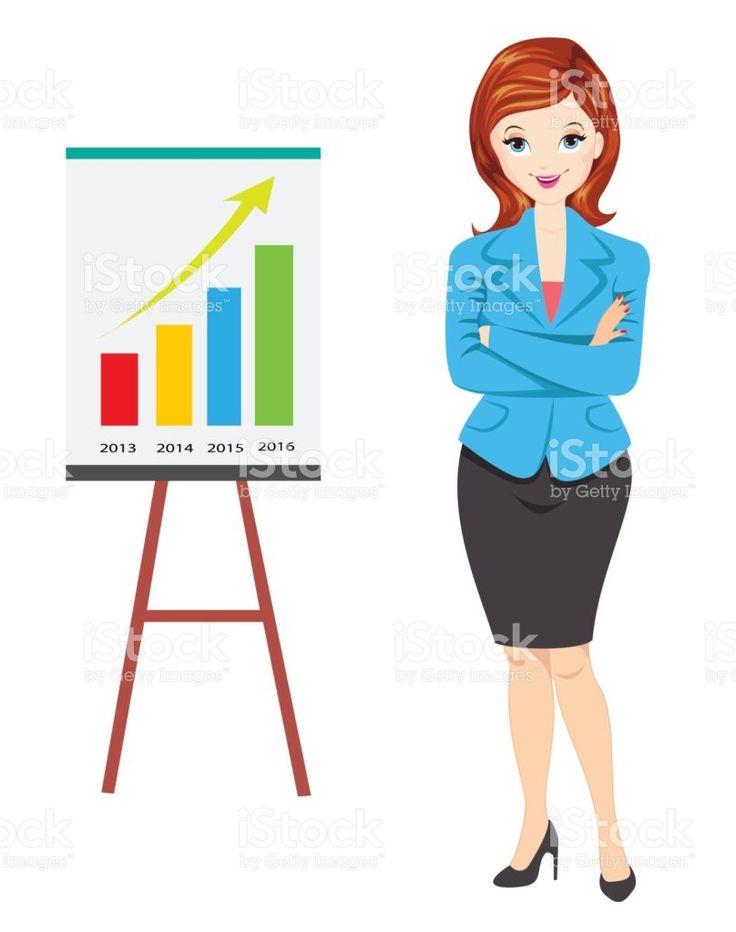businesswoman showing progress report royalty-free stock vector art