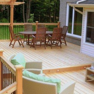 Comfy Outdoor Dining Room And Living Room At Small Backyard Deck Idea , Grabbing Exterior Beauty with Small Backyard Deck Ideas In Outdoor Category