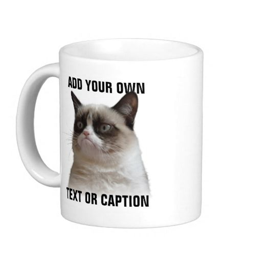 Official Grumpy Cat™: Resplandor gruñón del gato - añada su propio texto tazas de café  #GrumpyCat #Tazas - Tienda ESPAÑA