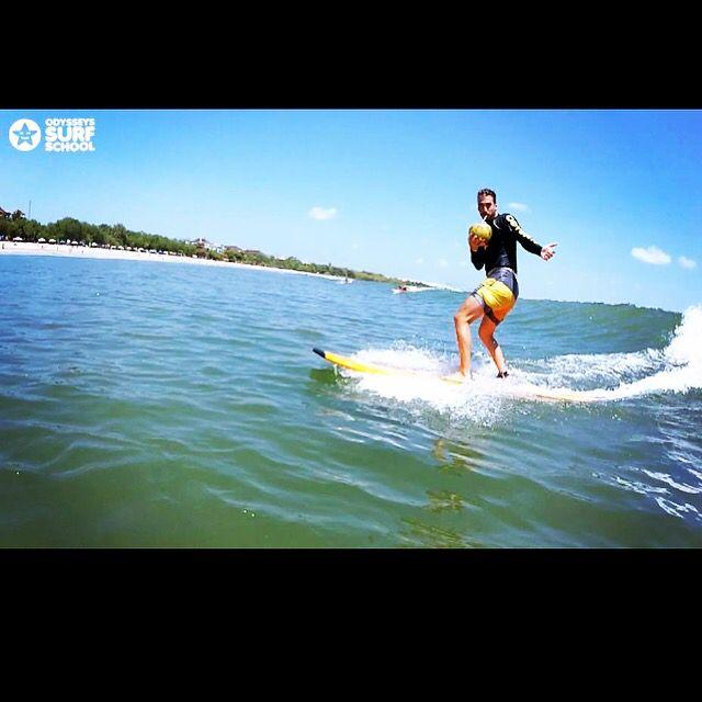 Surf and drinking coconut  #surfingisfun #odysseysurfschool #odysseysurfbali
