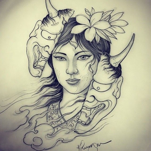 Woman hannya done by @khuong_daruma #japanesetattoo #japanesetattooart #hannya…