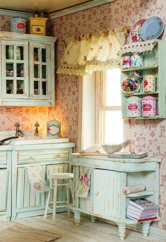 1825 besten shabby chic kitchens bilder auf pinterest. Black Bedroom Furniture Sets. Home Design Ideas