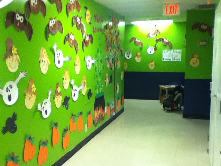 decorated hallway entrance of daycare
