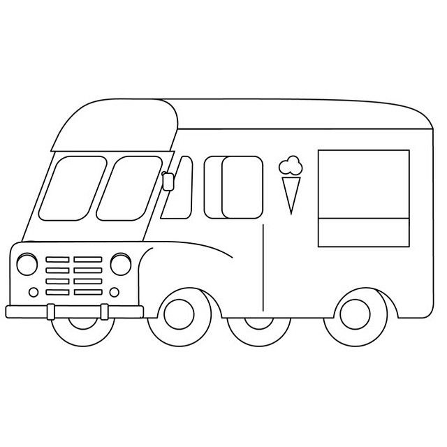 Grace illustration Version3. She's gotten a little more curvy up front.  The #IceCreamTruck illustration will be on VintageIceCreamTruck.com, biz cards, as a stamp for old school stationery, trucker caps (yep) & tees. _  thanks to @atariboy & @saltandunicorns. _