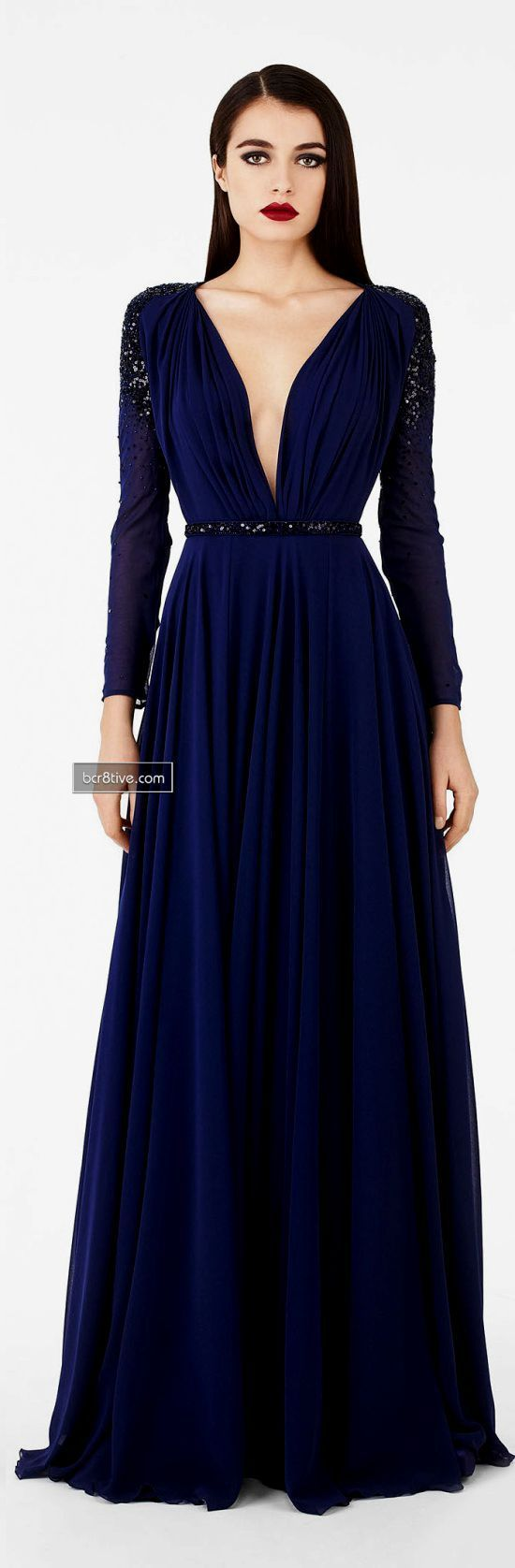 Vestido Azul Marino Maquillaje