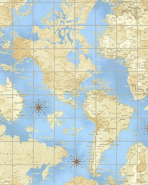 233 best fabric i love images on pinterest christmas fabric theory of aviation parchment world map lt blue gumiabroncs Image collections