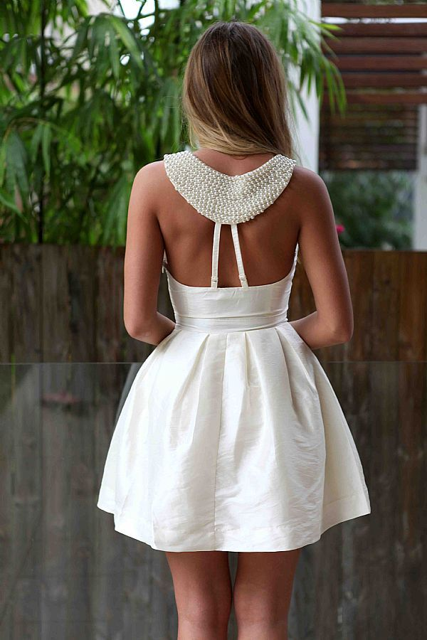 love this back: Summer Dresses, Parties Dresses, Receptions Dresses, Shower Dresses, Dinners Dresses, Breakfast At Tiffany, Little White Dresses, Rehear Dinners, Back Details