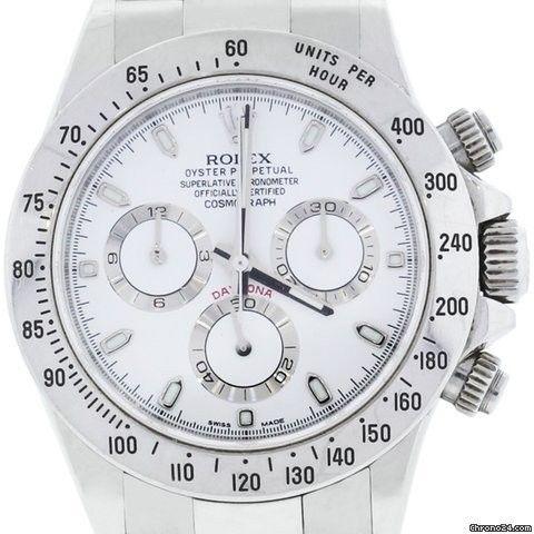 Rolex Daytona 116520 Stainless Steel Dial Watch