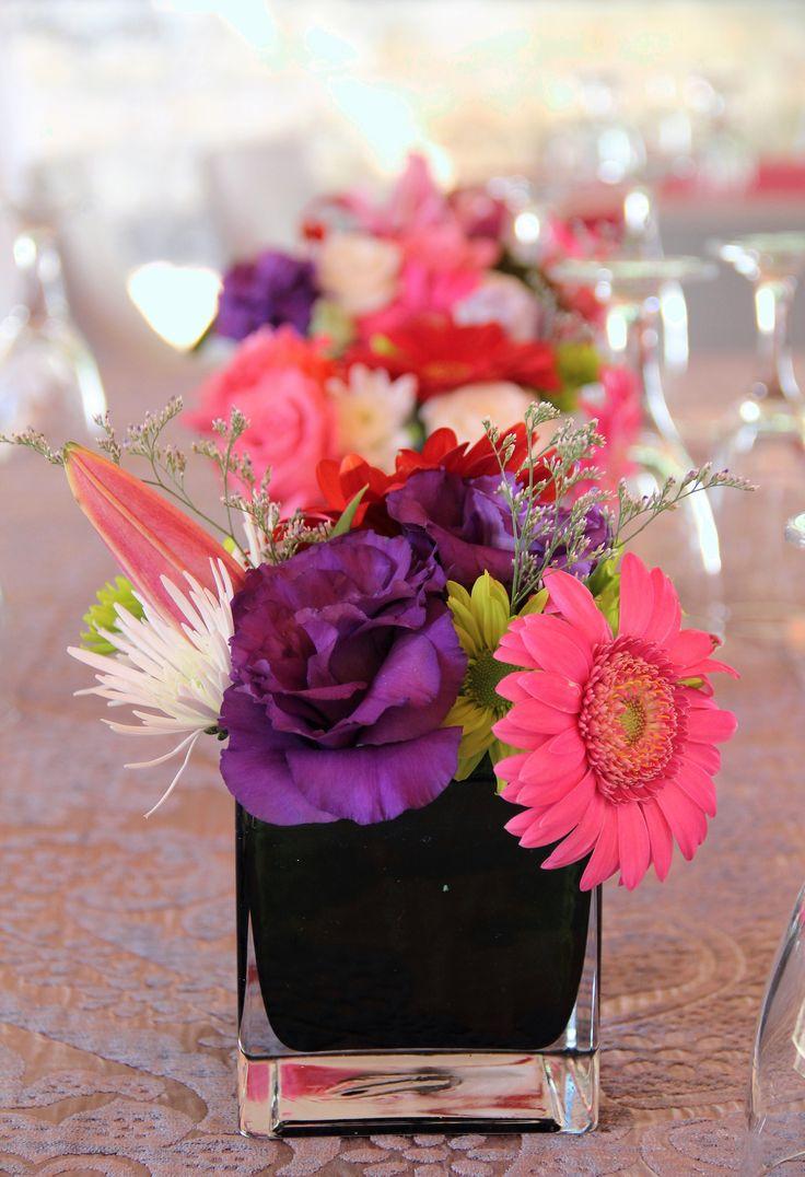 Flower setting at a friends wedding - Arniston Bay