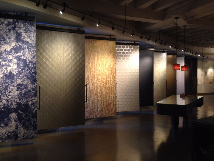 Winter 2015 16 collection on display at maya romanoff for Showroom flooring ideas