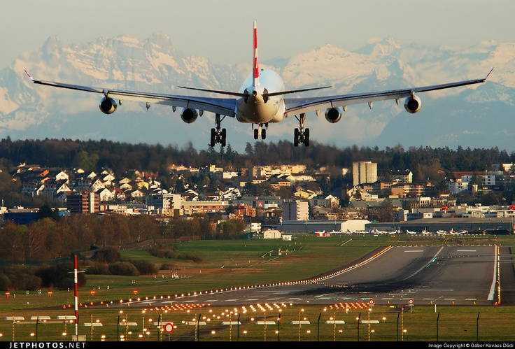 Arriving in Zurich-Kloten Airport.