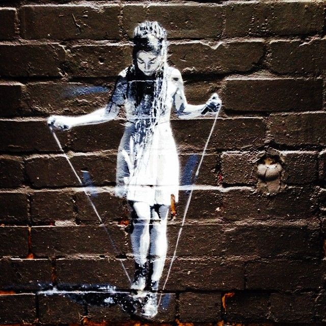Skipping Girl Melbourne Street Art
