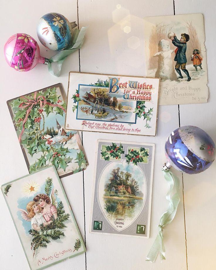 Some of Grace Naumann's #christmas #vintagepostcard collection