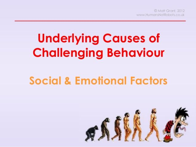 This presentation, designed for delivery as part of the NPSLBA programme, looks at underlying causes of unacceptable behaviour - and encourages staff to think analytically about what might be happening in their classroom. For more resources around this topic: http://www.tes.co.uk/teaching-resource/Causes-of-Challenging-Behaviour-CPL-CPD-6255907/