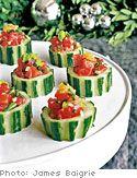 Tuna Tartare in Cucumber Cups    http://www.oprah.com/food/Tuna-Tartare-in-Cucumber-Cups