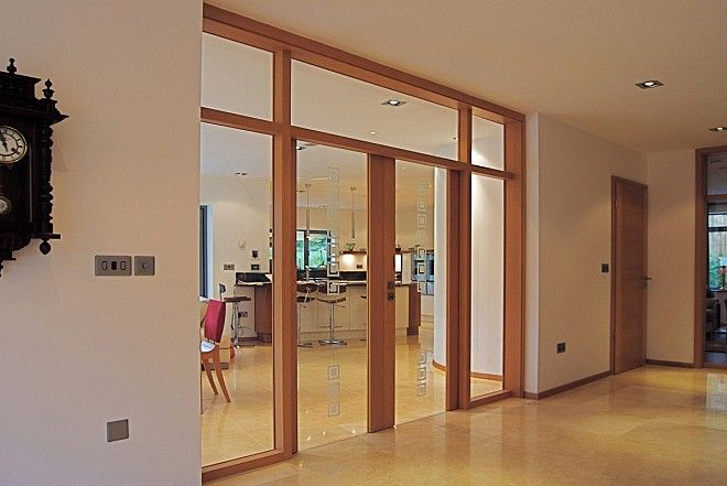 Side lights and top lights using the Vitrum glass door range