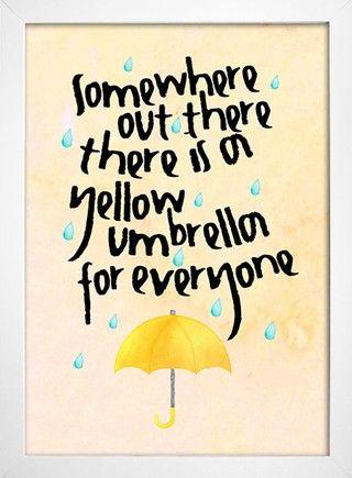 Poster Yellow Umbrella - How I Met Your Mother - loja online