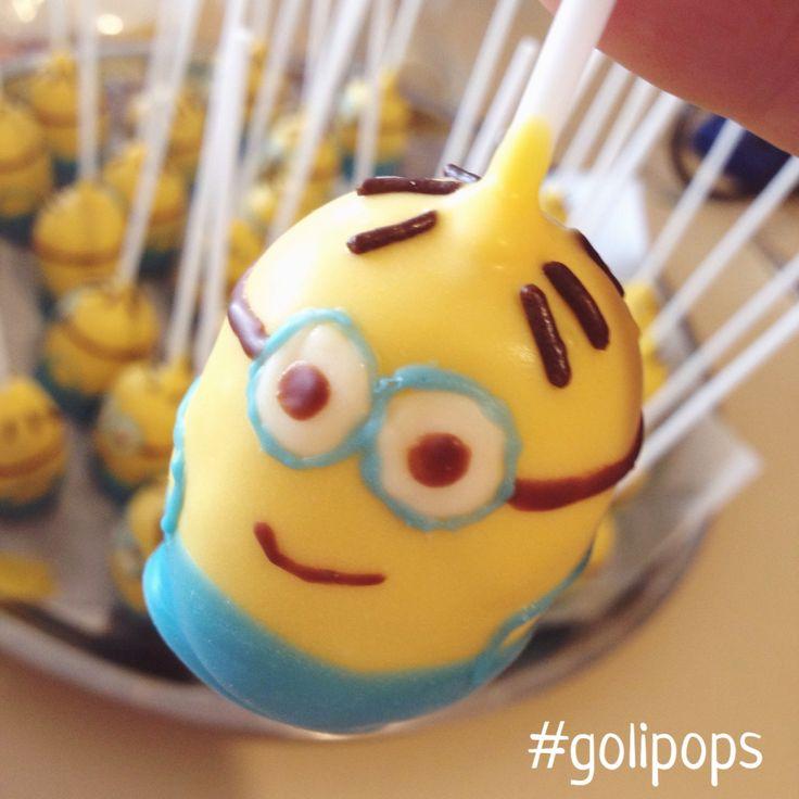 Minion cakepop #golipops party food / Despicable me  www.fb.com/cocinaGoligo